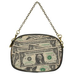 Dollar Currency Money Us Dollar Chain Purses (one Side)