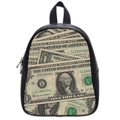 Dollar Currency Money Us Dollar School Bag (small)