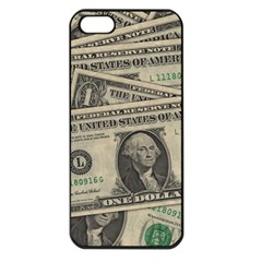 Dollar Currency Money Us Dollar Apple Iphone 5 Seamless Case (black)