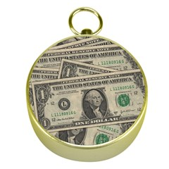 Dollar Currency Money Us Dollar Gold Compasses