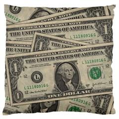 Dollar Currency Money Us Dollar Standard Flano Cushion Case (two Sides)