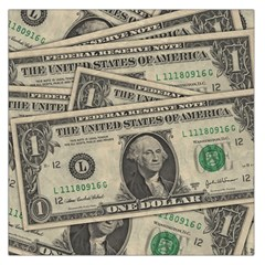Dollar Currency Money Us Dollar Large Satin Scarf (square)