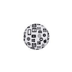 Icon Ball Logo Google Networking 1  Mini Magnets