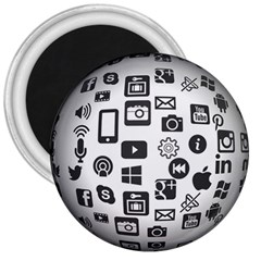 Icon Ball Logo Google Networking 3  Magnets