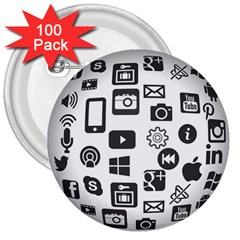 Icon Ball Logo Google Networking 3  Buttons (100 Pack)