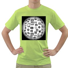 Icon Ball Logo Google Networking Green T Shirt