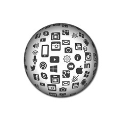 Icon Ball Logo Google Networking Magnet 3  (round)