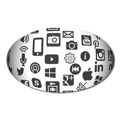 Icon Ball Logo Google Networking Oval Magnet