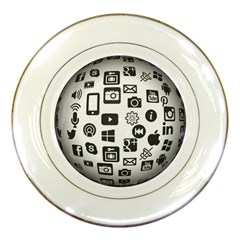 Icon Ball Logo Google Networking Porcelain Plates