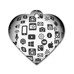 Icon Ball Logo Google Networking Dog Tag Heart (one Side)