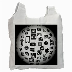 Icon Ball Logo Google Networking Recycle Bag (one Side)