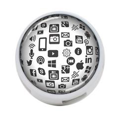 Icon Ball Logo Google Networking 4 Port Usb Hub (two Sides)