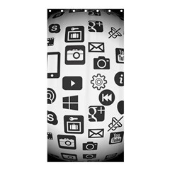 Icon Ball Logo Google Networking Shower Curtain 36  X 72  (stall)