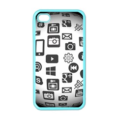 Icon Ball Logo Google Networking Apple Iphone 4 Case (color)