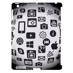 Icon Ball Logo Google Networking Apple Ipad 3/4 Hardshell Case (compatible With Smart Cover)