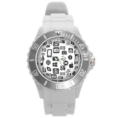 Icon Ball Logo Google Networking Round Plastic Sport Watch (l)