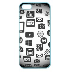 Icon Ball Logo Google Networking Apple Seamless Iphone 5 Case (color)