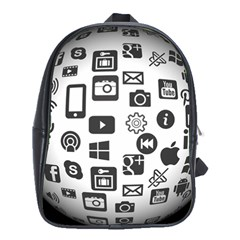 Icon Ball Logo Google Networking School Bag (xl)