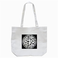 Icon Ball Logo Google Networking Tote Bag (white)