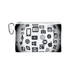 Icon Ball Logo Google Networking Canvas Cosmetic Bag (s)