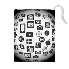 Icon Ball Logo Google Networking Drawstring Pouches (extra Large)