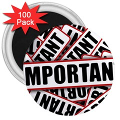 Important Stamp Imprint 3  Magnets (100 Pack)