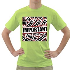 Important Stamp Imprint Green T Shirt