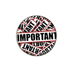 Important Stamp Imprint Hat Clip Ball Marker