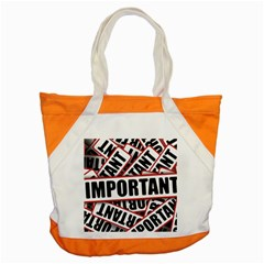 Important Stamp Imprint Accent Tote Bag