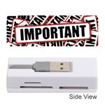 Important Stamp Imprint Memory Card Reader (Stick)  Front