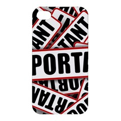 Important Stamp Imprint Apple Iphone 4/4s Hardshell Case