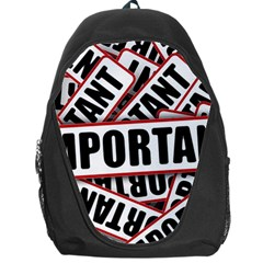 Important Stamp Imprint Backpack Bag