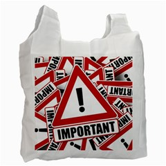 Important Stamp Imprint Recycle Bag (two Side)