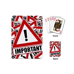 Important Stamp Imprint Playing Cards (mini)