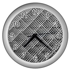 Grid Wire Mesh Stainless Rods Wall Clocks (silver)
