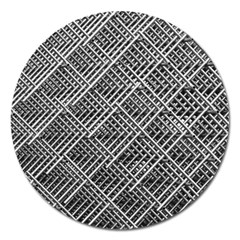 Grid Wire Mesh Stainless Rods Magnet 5  (round)