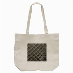 Grid Wire Mesh Stainless Rods Tote Bag (cream)