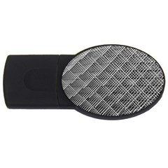 Grid Wire Mesh Stainless Rods Usb Flash Drive Oval (4 Gb)