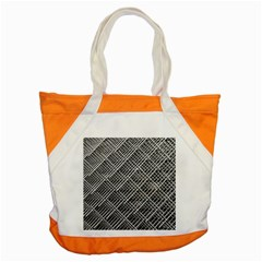 Grid Wire Mesh Stainless Rods Accent Tote Bag