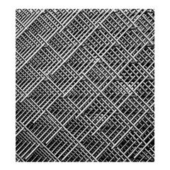 Grid Wire Mesh Stainless Rods Shower Curtain 66  X 72  (large)