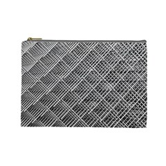 Grid Wire Mesh Stainless Rods Cosmetic Bag (large)