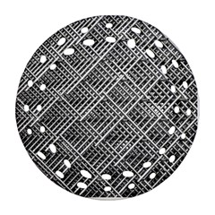 Grid Wire Mesh Stainless Rods Ornament (round Filigree)