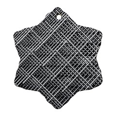 Grid Wire Mesh Stainless Rods Snowflake Ornament (two Sides)