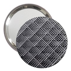 Grid Wire Mesh Stainless Rods 3  Handbag Mirrors