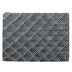 Grid Wire Mesh Stainless Rods Cosmetic Bag (xxl)