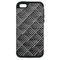 Grid Wire Mesh Stainless Rods Apple Iphone 5 Hardshell Case (pc+silicone)