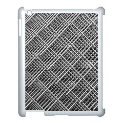 Grid Wire Mesh Stainless Rods Apple Ipad 3/4 Case (white)