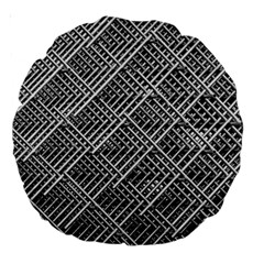 Grid Wire Mesh Stainless Rods Large 18  Premium Round Cushions