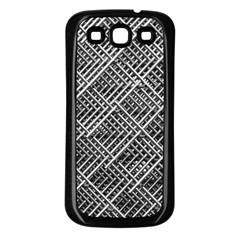 Grid Wire Mesh Stainless Rods Samsung Galaxy S3 Back Case (black)