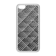 Grid Wire Mesh Stainless Rods Apple Iphone 5c Seamless Case (white)